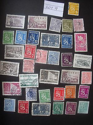 36 Used Stamps From Finland