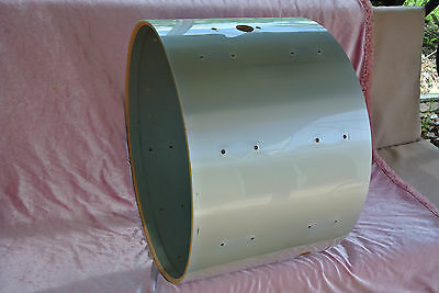 "1970's Rogers USA 22"" METALLIC SILVER MEMRILOK BASS DRUM for YOUR DRUM SET #T844"