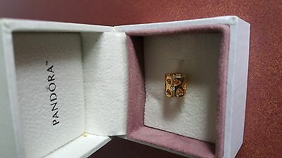 Authentic Pandora 14K Gold * Diamond Soulmate Charm*  Discontinued