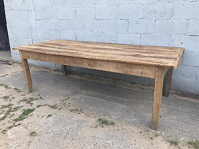 Very Large, 8x4ft, French Antique Farmhouse Table, Oak, Vintage, Heavy!