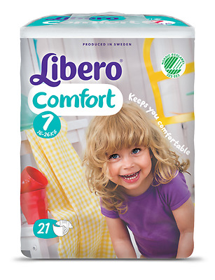 Libero Comfort 7 (16kg - 26kg)  LARGER CHILD SPECIAL NEEDS - Pack of 21 Nappies