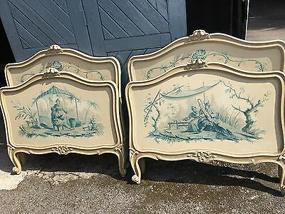 Fantastic Pair Of French Hand Painted Single Beds Must See Stunning Pair