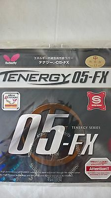 Tenergy 05-FX Butterfly table tennis rubber red 1.7mm thick. Brand new