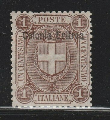 ERITREA 1895 SG12 1c Brown MLH  #