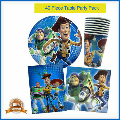TOY STORY BIRTHDAY PARTY SUPPLIES 40pc PACK PLATES CUPS TREAT BAGS NAPKINS 8PP