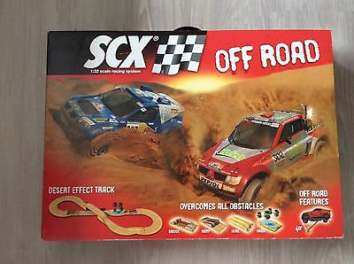 Ultra Rare Scx / Scalextric Off Road Set Plus Cars And Extra Track