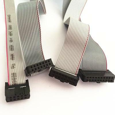 FC-10P/14P/16P/20P 2.54mm Pitch IDC Socket Extension Flat Ribbon Cable Wire 20cm