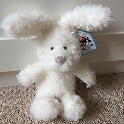 BNWT Jellycat Cream Fluffity Bunny Soother Comforter Teddy- Baby Gift!