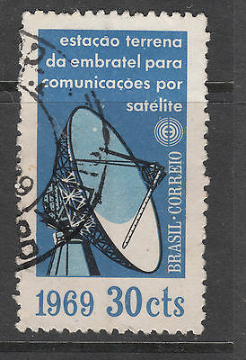 BRAZIL 1969 30c Satellite  Very Fine Used(a)