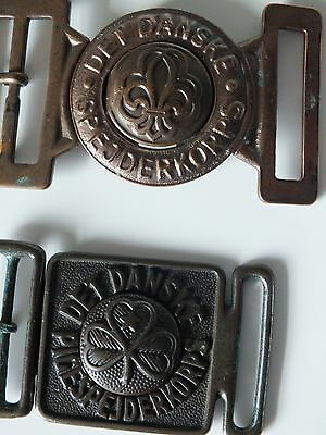 2 X Vintage Scout Danish 2 Piece Belt Buckle