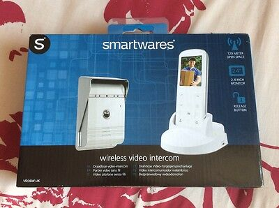 Smartwares VD36W- Wireless Video Door Phone with Night Vision Function and Image