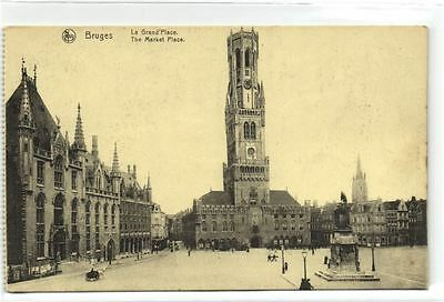 1 postkaart Bruges La Grand Place Watch Tower