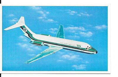 Airline issue postcard-Saudi Arabian Airlines DC9 aircraft