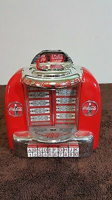 1996 Coca-Cola Juke Box Style Coin Bank Plays Two Coca-Cola Jingles