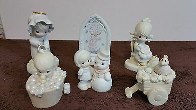 Lot of 6 Precious Moments Porcelain Figurines, no boxes
