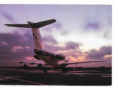 Airline issue postcard-Braathens SAFE Norway Fokker F28  aircraft