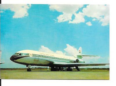 Airline issue postcard-Syrian Arab Airlines SE210 Caravelle  aircraft