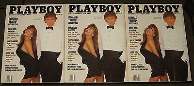 Playboy March 1990 Donald Trump  Lot of (3) Issues