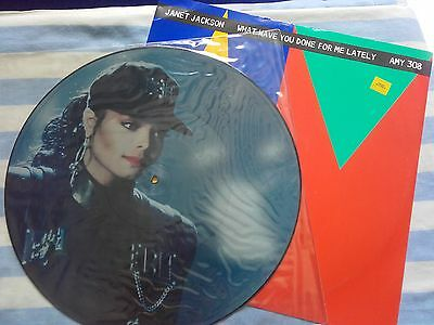 Janet jackson picture disc record + other