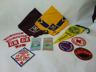 Boy Scouts Lot Banners, Badges, Camporee , 2 Pins
