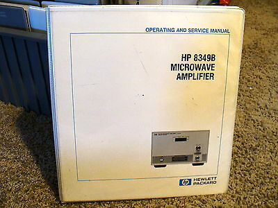 Agilent / HP 8349B Microwave Amplifier Operating and Service Manual 08349-90017