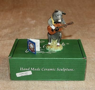 Beswick - Christopher Guitar Playing Pig (Pp9) In Box + Certificate Of Ownership