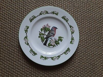 Crown Staffordshire fine bone china decorative plate: Chaffinch