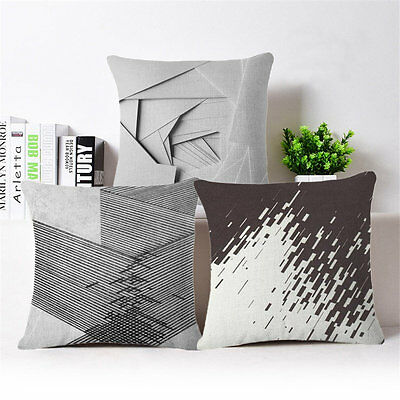 Decompression Linen Cotton Throw Pillow Case Cushion Cover Home Sofa Decor