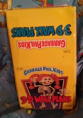 1986 Topps Garbage Pail Kids 3-D Wall Plaks Unopened Box( 3 SETS)Rare!!!