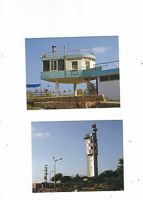 2 Isreal Lighthouse Postcards