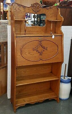 Antique Oak SECRETARY Larkin Style Ladies Secretary early 1900's original finish