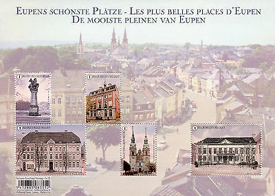 Belgium 2017 MNH Marketplaces in Eupen 5v M/S Architecture Tourism Stamps