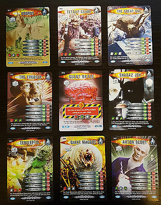 Doctor Who Battles In Time Ultimate Monsters - 9 cards including rare Kronos 657