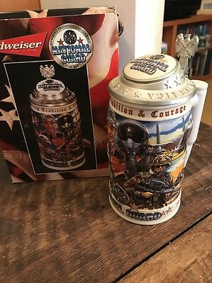 Budweiser Honoring Tradition And Courage Series National Guard Stein
