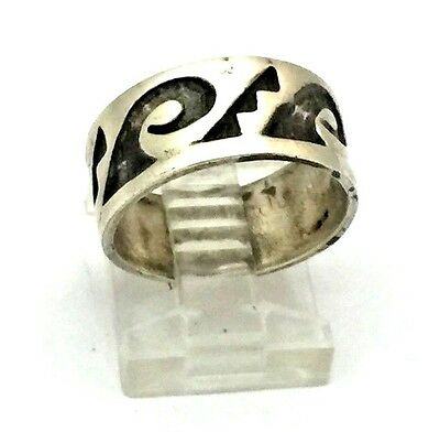 Hand Made Hopi Sterling Silver Tribal Ring