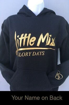 Little Mix Glory Days Hoodie personalised  on back kids, adults, t-shirts hoody
