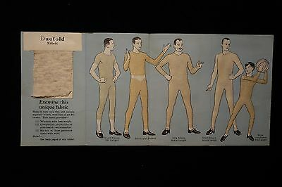 VINTAGE DUOFOLD LONG UNDERWEAR SALES BROCHURE PAMPHLET, 1940s?