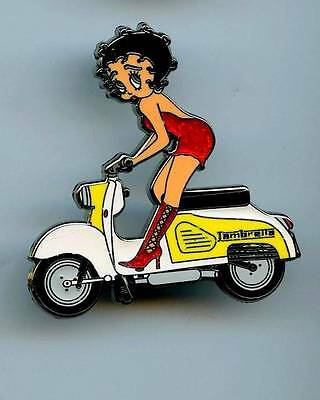 Betty Boop Lapel Pin  lambretta scooter MOTORCYCLE
