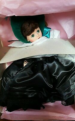 1996 Madame Alexander Doll Scarlett 16654 Mourning Gown Green Bonnet Rare NEW