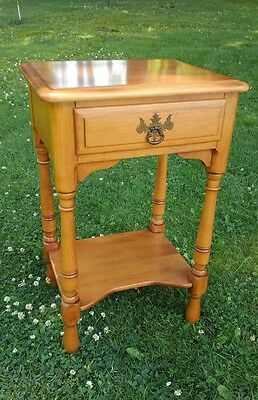 Vintage KLING Solid Maple NightStand 1 Drawer Lamp Table BEAUTIFUL ! End Table