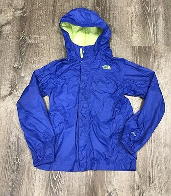 The North Face HYVENT Boy's Large 14/16 WaterPoof Breathable Rain Jacket Blue