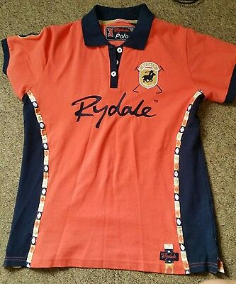 Red Rydale Polo Club equestrian riding polo. Size M (12-14)