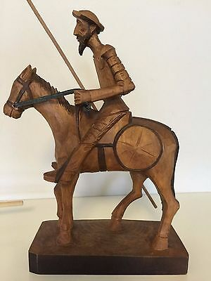 ***don Quijote***ouro Wood Carved
