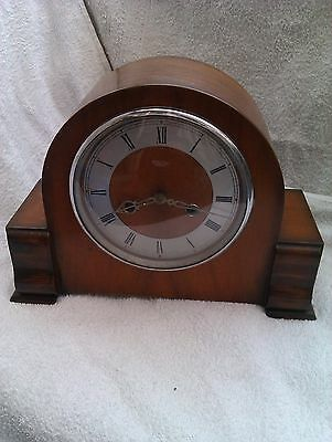 A Great Old Chiming Mantle Clock In Full Working Order
