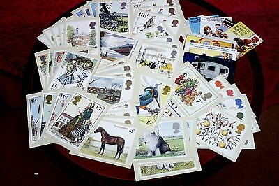 Collection Of 64 Vintage Post Office Picture Card Series Postcards