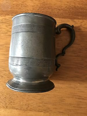 Antique Pewter Tankard George IV.     Nearly 300 years old !!!!!!!