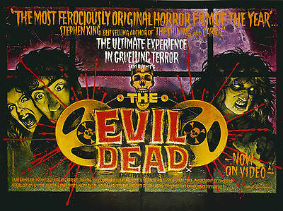 "The Evil Dead 1981 16"" x 12"" Reproduction Movie Poster Photograph"