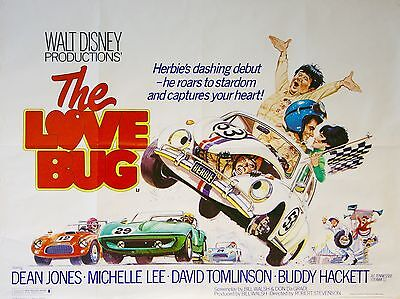 """The Love Bug 16"""" x 12"""" Reproduction Movie Poster Photograph"""