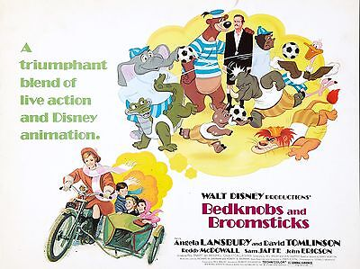 """Bednobs and Broomsticks 16"""" x 12"""" Reproduction Movie Poster Photograph"""
