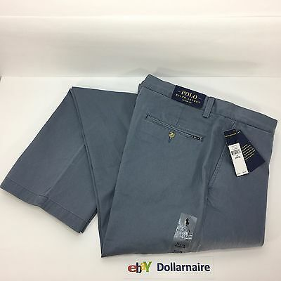Polo Ralph Lauren Men's Classic Fit Flat Front Chino Casual Pants 34x34 NEW